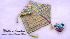 """Châle """"Istanbul"""" facile """"Lidia Crochet Tricot"""" Lidia Crochet Tricot, Knit Crochet, Istanbul, Crochet Scarves, Beret, Crochet Patterns, Knitting, Projects, Youtube"""
