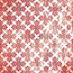 damask red damaged fabric seamless pattern 12x12 inch