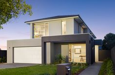 Stunning modern facade on the Bateman Show Home by Glenvill