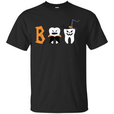 Scary Dentist Halloween Boo Teeth Unisex Short Sleeve T-Shirt Be Cool - Be Different, Unique designs, Large size : Satisfaction Guaranteed, Perfect for your family members and friends Halloween Boo, Halloween Shirt, Dental Life, Dental Art, Dental Shirts, My Dentist, Emergency Dentist, T Shirt World, Dental Assistant