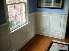 Wainscoting - unique, but still a traditional look for dining room