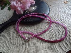pink sapphire necklace/ triple wrap bracelet by not2trendy on Etsy, $600.00 Triple Wrap, Sapphire Necklace, Pink Sapphire, Jewelery, My Favorite Things, Bracelets, Creative, Artist, Etsy