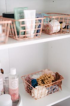 Home Decor Accessories Makeup and skincare organization hacks tips and tricks. Best products I use and buy when reorganizing.Home Decor Accessories Makeup and skincare organization hacks tips and tricks. Best products I use and buy when reorganizing Organisation Hacks, Organizing Hacks, Bathroom Organisation, Makeup Organization, Teen Bedroom Organization, Organized Bedroom, Organization Ideas For Bedrooms, Hair Product Organization, Dresser Drawer Organization