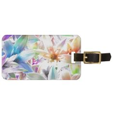 Colorful Pastel Orchids Luggage ID Tag