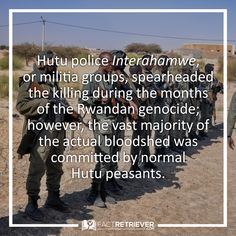 "The Rwandan Genocide was also called the ""peasants revolution"""