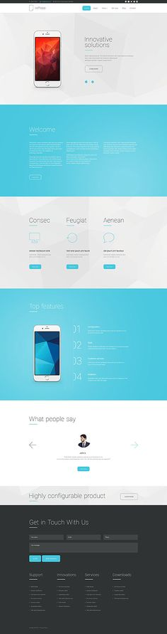 Mobile App Landing Page #Drupal #template. #themes #business #responsive