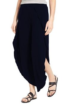 4858ed0856 Pink Queen Womens Chic Wide Leg Trousers High Split Pants Blue XL * Click  for Special
