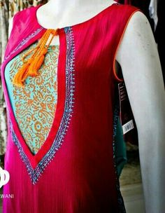 Latest neckline gala designs collection consists of new styles and patterns of cutwork, embroidered neck for churidars, anarkalis, kurtis, etc. Salwar Neck Designs, Neckline Designs, Dress Neck Designs, Kurta Designs, Blouse Designs, Salwar Pattern, Kurta Patterns, Suit Pattern, Dress Patterns