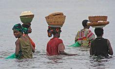Ladies fishing. Ibo Island, Northern Mozambique,