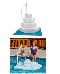 pool ladders and steps 167847 blue wave above ground swimming pool wedding cake steps