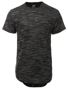 LE3NO Mens Lightweight Short Sleeve Longline T Shirt