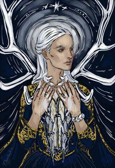 @phantomrin.tumblr.com: Alina (The Grisha Trilogy by Leigh Bardugo @lbardugo ) Just wanted to draw her. BADLY.