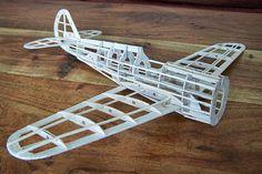Balsawood model airplane