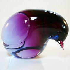 Glas Objekt Livio Seguso für Gral Glas • Signiert • Glasfigur • Taube