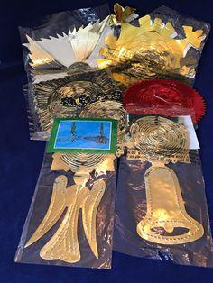 Bundle Vintage Christmas Foil Garlands, 1970s Festoon Garlands, Retro Christmas Decor, Christmas Decorations, Vintage Christmas Decorations