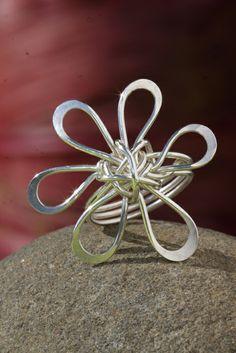 Silver Plumeria Design Ring