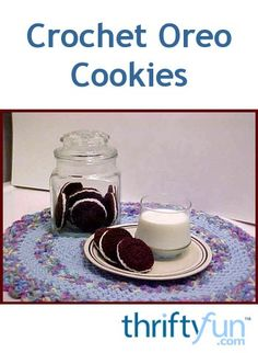 This is a guide about crochet Oreo cookies. If you are looking for a cute, fun crochet project that looks good enough to eat, try making crochet Oreo cookies.