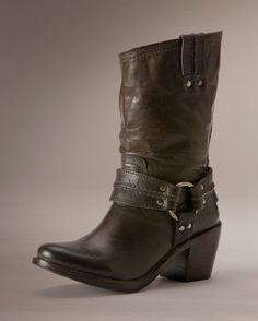 Frye Women's Vintage Carmen Harness Short Boot - Grey