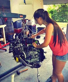 Oh my ever loving goodness this is my best pin!!!!!!!!!' She is so fine!! And then she is working on tht motor. Awwwww amazing!!!!!
