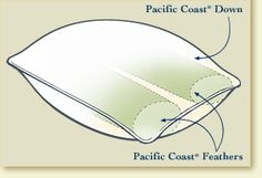 Slumber Core®- Pillow - Pacific Coast Feather Company.  My husbands favorite pillows.