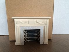 Braxton+Payne+Adam+Fireplace+in+Parchment+White+[BPAPW]+-+$32.50+:+My+Favorite+Dollhouse,+Half+Inch+Scale+Miniatures