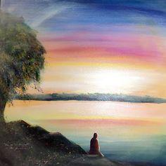 "Minnie Valero: INTROSPECTION, acrylic on canvas, 36x36"""