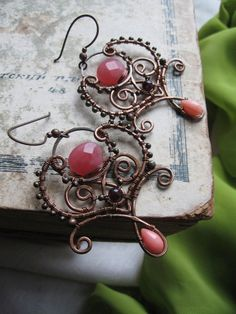 Wire Wrapped Eastern Earrings