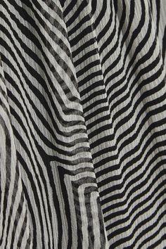 Black and light-gray silk-chiffon Slips on 100% silk; lining: 100% viscose Dry clean