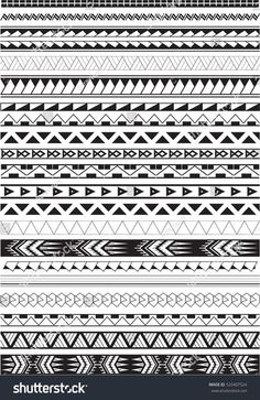 Maori brushes set in white - Brenda O. - Maori brushes set in white – - Maui Tattoo, Polynesian Tattoo Designs, Maori Tattoo Designs, Maori Tattoo Meanings, Tattoos With Meaning, Maori Symbols, Maori Band, Bracelet Maori, Sharpie Tattoos