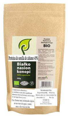 Todos los aminoácidos esenciales  Proteina de semilla de Cáñamo, en polvo Bio. 500gr - 15,50€
