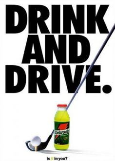 It only works on the golf course, never on the road! #Gatorade #Golf #LorisGolfShoppe