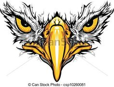 Vector of Eagle Eyes and Beak Vector Illustration - Graphic Vector ...