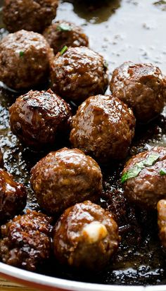 cheese stuffed meatballs coated with honey and pomegranate molasses.....