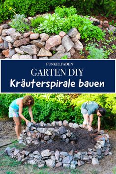 A herb spiral or herbal snail you can build easily and cheaply yourself. For fresh herbs in the garden. Easy diy with instructions. Herb Garden Design, Garden Types, Garden Paths, Indoor Garden, Outdoor Gardens, Home And Garden, Diy Garden, Culture D'herbes, Herb Spiral