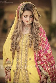 Inexpensive Wedding Venues In Ma Pakistani Bridal Hairstyles, Bridal Hairstyle Indian Wedding, Pakistani Bridal Makeup, Pakistani Wedding Outfits, Indian Bridal Fashion, Bridal Outfits, Bridal Lehenga, Pakistani Mehndi Dress, Bridal Mehndi Dresses