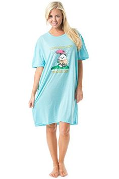 806a13d40e Casual Nights Women s Short Sleeve Printed Scoop Neck Sleep Tee - Blue -  READ REVIEW