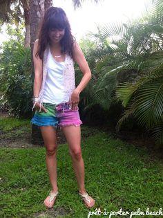 d.i.myself: multi-color #denim /#shorts #tutorial