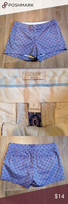 """J Crew misses stretch shorts. New with out tags Misses J Crew stretch shorts.  3"""" inseam and no pockets.  The back pockets are fake.  New without tags J. Crew Shorts"""