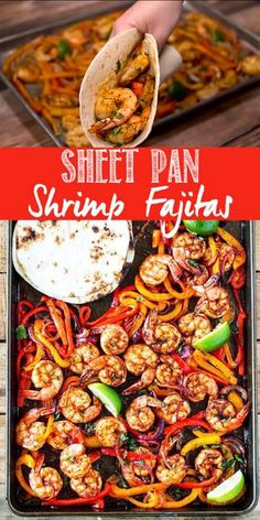 This shrimp fajita recipe is seriously so easy and delicious! All you have to do is scoop the juicy shrimp tender bell pepper and onions into a soft warm tortilla for a super fast and easy weeknight dinner! This shrimp fajita recipe is seriously so. Easy Weeknight Dinners, Easy Healthy Dinners, Dinner Healthy, Eating Healthy, Fast Easy Dinner, Crockpot Healthy Recipes Clean Eating, Clean Food Recipes, Meatless Dinner Ideas, All Recipes