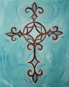 A small version of this fleur de lis cross is exactly what I'd want for a shoulder tattoo!
