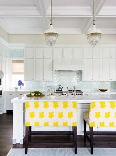 love these kitchen cabinets. Andrew Howard's blue crush - desire to inspire - desiretoinspire.net