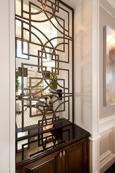 Custom hand forged iron screens used as room dividers