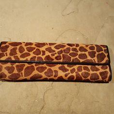 Aldo Giraffe Print Clutch Brand new, never used, faux calf hair like material ALDO Bags Clutches & Wristlets