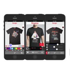 """Snaptee lets users turn their smartphone photos into T-shirt designs and get them made with a few taps on their smartphone for $19.99 each. Users can also """"remix"""" each other's designs, and the original creator of the photograph gets a small cut of any sales.  #DesignYourOwn"""
