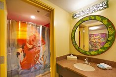 Disney's Art of Animation Resort -   Lion King Family Suites. Awesome shower curtain