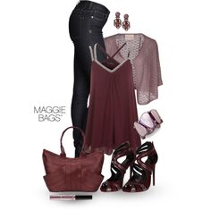 """""""Burgundy Beauty"""" by maggiebags on Polyvore"""