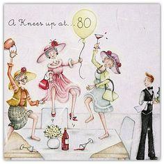 A Knees Up At 80 Berni Parker Designs Card.  £2.75 -FREE Postage!