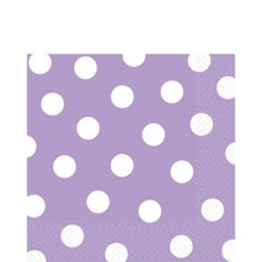 Lavender Polka Dot Lunch Napkins 16ct - Party City $2.17
