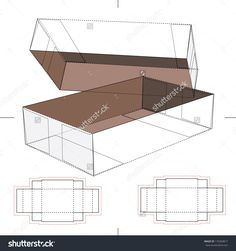 Box With Blueprint Layout Stock Vector Illustration 170269817 : Shutterstock
