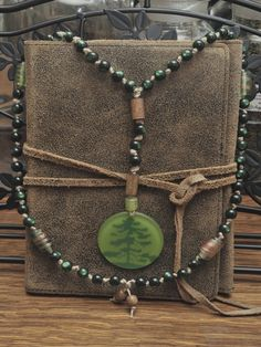 Purse with beads.